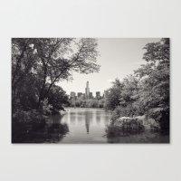 Central Park from Bow's Bridge Canvas Print