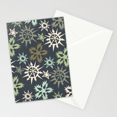 unlikely snowflakes Stationery Cards