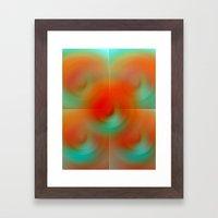 carrot and eggplant Framed Art Print