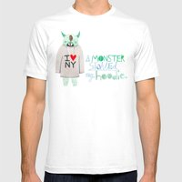 A Monster Stole My Hoodi… Mens Fitted Tee White SMALL