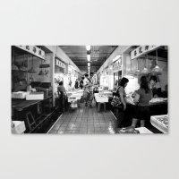 Somethings Fishy [Black … Canvas Print