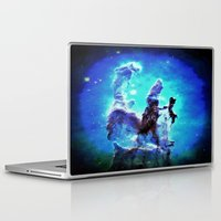 nebula Laptop & iPad Skins featuring Blue Pillars of Creation nEBULA  by 2sweet4words Designs
