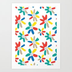 Floral Jewels Art Print