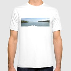 The Fisherman estuary White SMALL Mens Fitted Tee