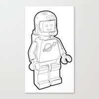 Vintage Lego Spaceman Wi… Canvas Print