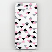 Triangles Black and Pink iPhone & iPod Skin