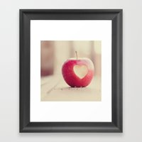 An Apple A Day... Framed Art Print