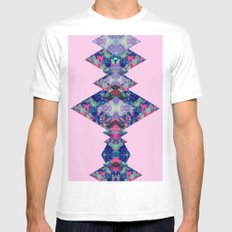 Diamonds II Mens Fitted Tee White SMALL