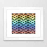 Butterfly pattern in color Framed Art Print