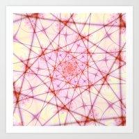 Neural Network Spiral Art Print