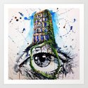 Eyeffel Tower Art Print