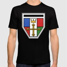 Voltron Chest Shield  Black Mens Fitted Tee SMALL