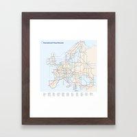 International E-Road Network Framed Art Print