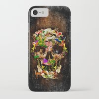 animal skull iPhone & iPod Cases featuring Floral Flower animal skull kingdom by KomarWork