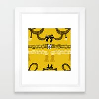 Never break the chain Framed Art Print