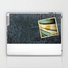 Grunge sticker of Argentina flag Laptop & iPad Skin