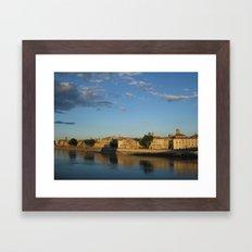 Sunset on the Rhône (Arles) Framed Art Print