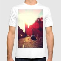 A Long Road Mens Fitted Tee White SMALL