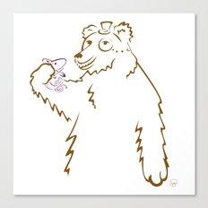 Bear & Fish Canvas Print