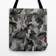 Modern Woodgrain Camouflage / Winter Birch Woodland Print Tote Bag