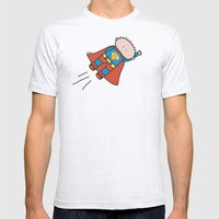 Superheros Mens Fitted Tee Ash Grey SMALL
