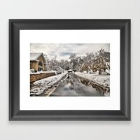 An Unexpected Snowfall Framed Art Print