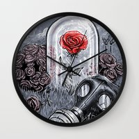 The Last Flower On Earth Wall Clock