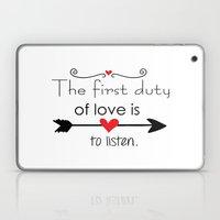 Love Is To Listen Laptop & iPad Skin