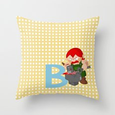 b for blacksmith Throw Pillow