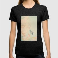 Map Womens Fitted Tee Tri-Black SMALL