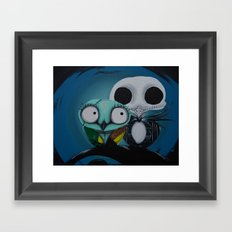 The Owl Jack And Sally Framed Art Print