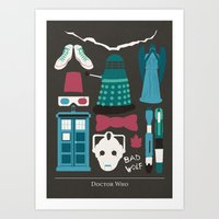 doctor who Art Prints featuring Doctor Who by Abbie Imagine