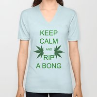 Keep Calm and Rip a Bong Unisex V-Neck