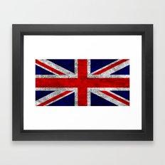 Union Jack Grunge Flag Framed Art Print