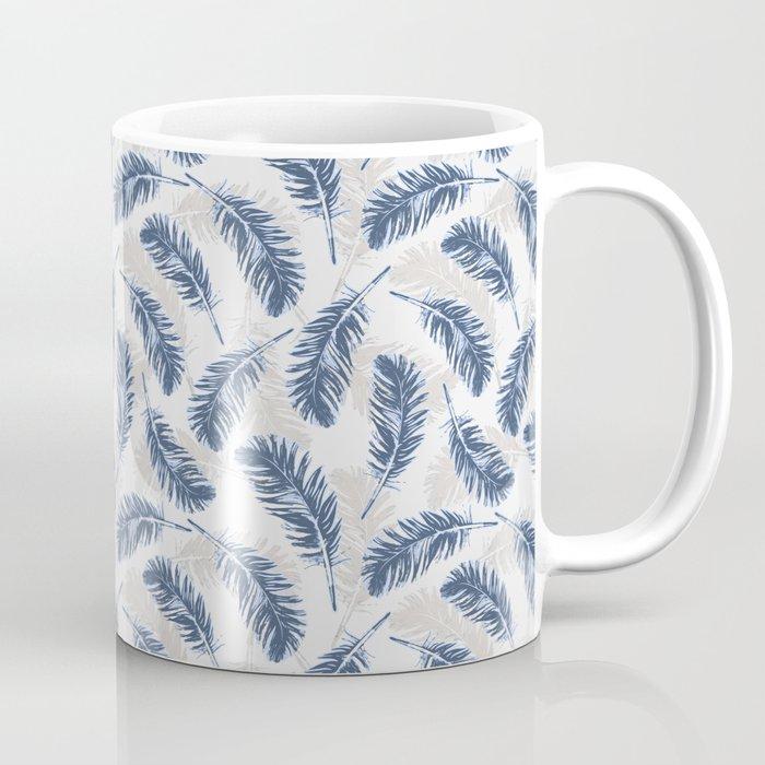My blue feathers mug by juliagrifol designs society6 for Blue mug designs