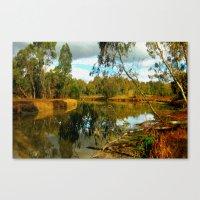 Dusk over a Swamp Canvas Print