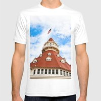 Haunted Coronado Tower Mens Fitted Tee White SMALL