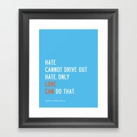 Love Can Quote Framed Art Print