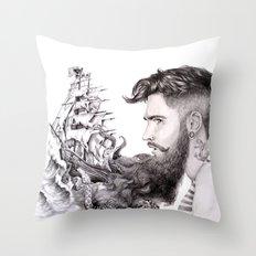 Sailor's Beard Throw Pillow