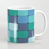 Blue Wood Blocks Mug