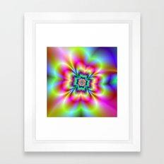 Psychedelic Four Leaf Clover  Framed Art Print