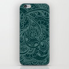 Teal Paisley iPhone & iPod Skin