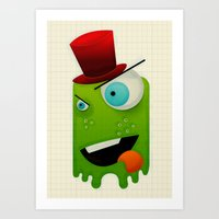 Scary Monster Art Print