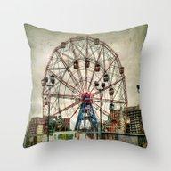 Coney Island Wonder Whee… Throw Pillow