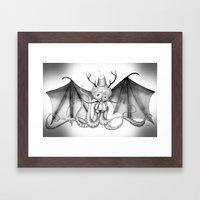 MonoChro-Monster Framed Art Print