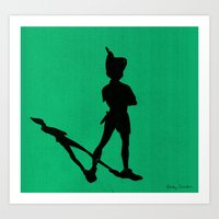 HE CAN FLY! (Peter Pan) Art Print