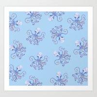 Octopi Art Print