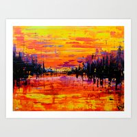 Northwoods Sunset Art Print