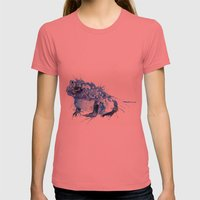 I Feel Blue Womens Fitted Tee Pomegranate SMALL