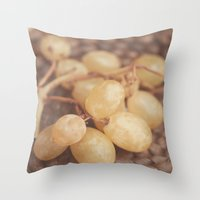 White Muscat Grapes Throw Pillow